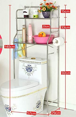 YLCJ Toiletborstelhouder van roestvrij staal, voor badkamer, toilet, boring, voor wasmachine op de vloer (kleur: klein) Klein