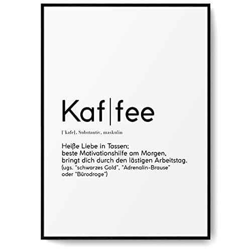 BLCKART Definition Kaffee Poster Beidseitig Bedruckt Worterk
