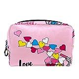 Bolsa de cosméticos Bolsa de Maquillaje para Mujer para Viajar para Llevar cosméticos, Cambio, Llaves, etc. Bicicleta con una Rueda de rosquilla Rosa