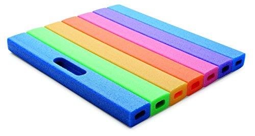 COMFY® PAD Kniekissen, Sitzkissen, Mehrzweckkissen in Regenbogenfarben, 35 x 30 cm