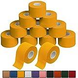 ALPIDEX 12 x Cinta Adhesiva Deportiva 3,8 cm x 10 m Sport Tape, Color:Amarillo
