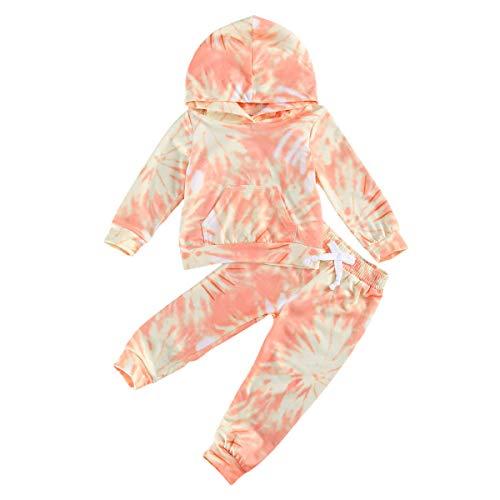 Conjuntos de ropa de teñido anudado, sudaderas y pantalones para bebé, conjuntos de ropa para niña