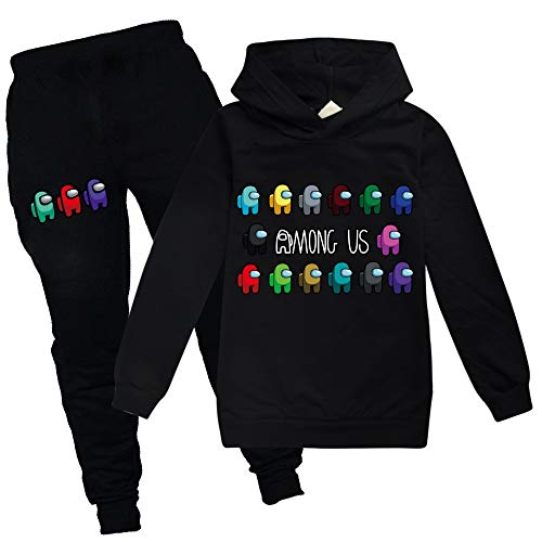 EELMOOR Imposter Among Game Us You Look Sus Tracksuit Sets Kids Hoodie and Sweatpants Suit Outfit Fashion Sweater Set for Boys Girls