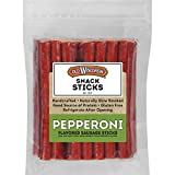 Old Wisconsin Pepperoni Sausage Snack Sticks, Naturally Smoked, Ready to Eat, High Protein, Low Carb, Keto, Gluten Free, 28 Ounce Resealable Package