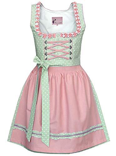 Alte Liebe Trachtenkleid 2tlg. Dirndl Kleid 34,36,38,40,42,44,46, Rosa, 38