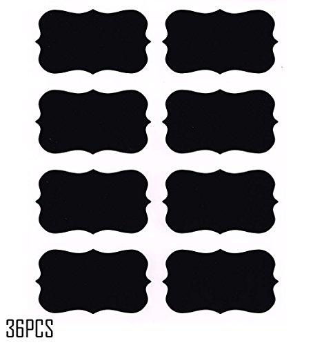 Windspeed 36pcs Chalkboard Labels Reusable Blackboard Stickers for the Kitchen, Pantry, Mason Jars, Wine Glasses