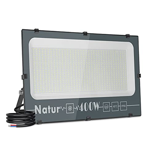 400W Focos LED Exterior,40000LM Alto Brillo Proyector LED Foco LED Interior,6000K Blanco Frío Luz Exterior luz exterior pared IP66 Impermeable Luces Foco Luz LED para Iluminación de Seguridad