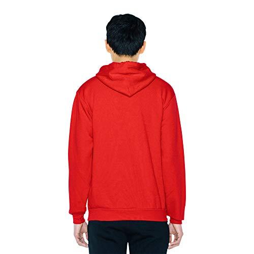American Apparel Men's Flex Fleece Long Sleeve Pullover Hoodie Hooded Sweatshirt, Red, XS