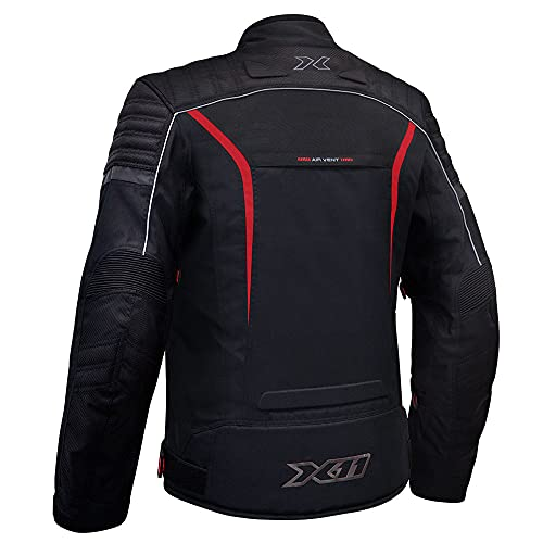 Jaqueta X11 IRON 2 Masculina Nylon Preto com Vermelho Proteção