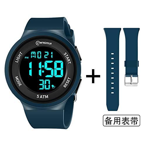Xlin - Reloj deportivo, resistente al agua, resistente a las caídas, relojes electrónicos a la moda de los estudiantes (color: azul)