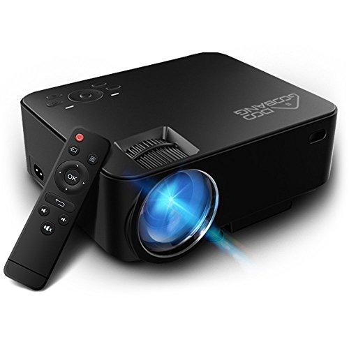 Proiettore, GooBang Doo T20 LED 1080P Full HD 1800 Lumens Videoproiettore Portatile Mini Proiettore Home Cinema 800*480 Risoluzione per PC Laptop PS4 Smartphone Xbox and Android TV Box