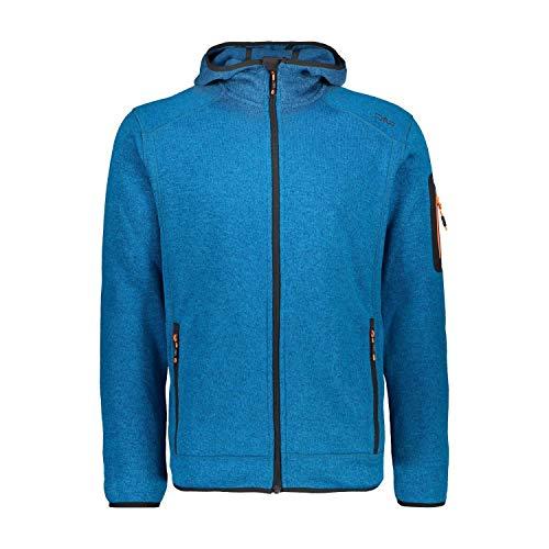 CMP Herren Fleecejacke Knitted Fix Hood Jacket 3H60847N Ottanio-Flash Orange 58