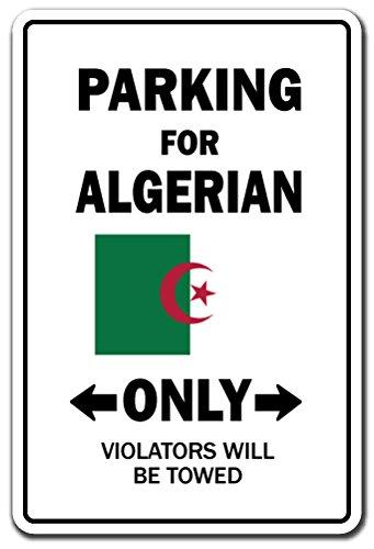 BDTS Nieuwe Parkeerplaats Voor Algerijnse Alleen Decal Algerije Vlag Nationale Trots Liefde Metalen Teken 8x12 inches