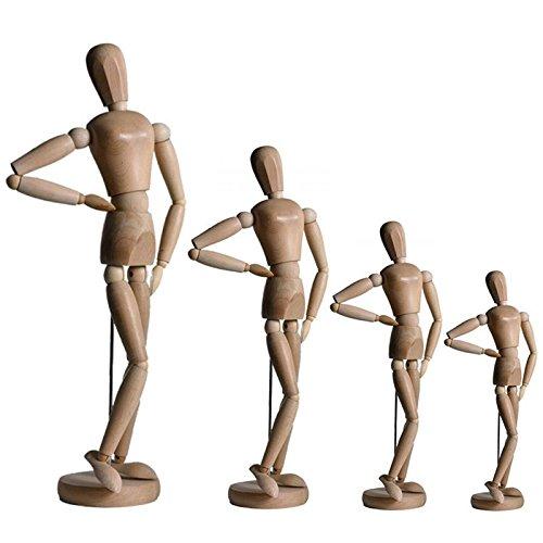 Artina Modèle Dali de Dessin - Figurine pour Esquisse - Mannequin Proportion Humaine Position réglable - en Bois - 30cm
