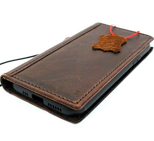 JAFO Schutzhülle für iPhone 11 (echtes Leder, handgefertigt, kabellos, Kreditkarten-Verschluss, Vintage-Stil, handgefertigt)
