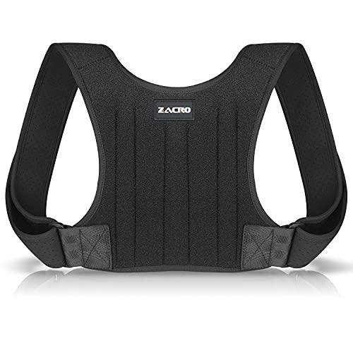 Zacro Rückenstütze Haltungskorrektur Rücken Geradehalter - Rückengurt Rückenstabilisator für Damen und Herren, Verstellbare Haltungstrainer Rücken, Posture Corrector Mit 2 Schulterpolster