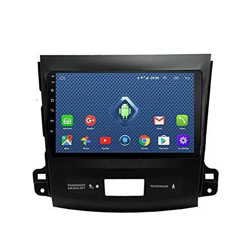 Reproductor MP5 estéreo para automóvil, Pantalla táctil de 9 Pulgadas, Compatible con Bluetooth/WiFi/USB SWC/Mirrorlink / OBD2 / Dab + / Radio FM, para Mitsubishi Outlander 2006-2013 con cámara