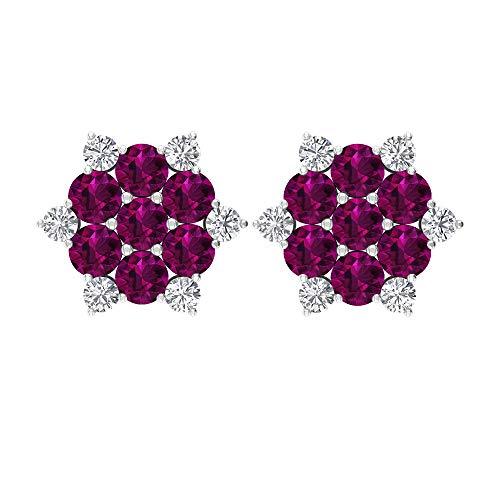 Rosec Jewels 10 quilates oro blanco redonda round-brilliant-shape H-I Diamond rodolita