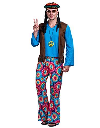 EraSpooky Herren Hippie Liebe Frieden Kostüm