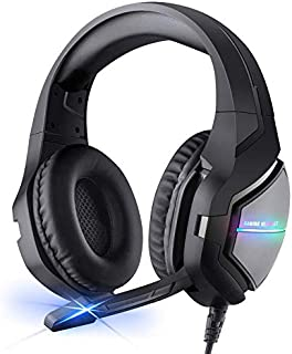 BlueFire Gaming Headset 3.5mm Noise Cancelling Over Ear Headphones Stereo Gaming Headset with Mic & LED Light for PS4, New...