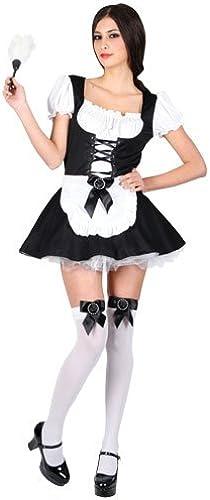 (S) Ladies Flirty French Maid Costume for Sexy Fancy Dress damen S