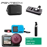 PGYTECH Huaye OSMO Compact Action 4K Waterproof Camera Sport Type-C Cable Protector Lens Hood Cage Compatible with DJI OSMO Action Camera Accessories (PGYTECH OSMO Action Travel Set)
