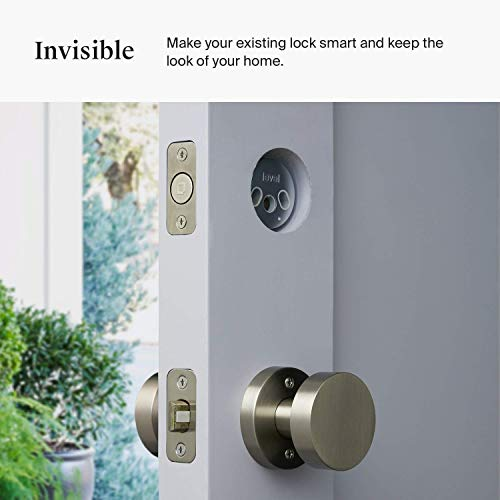 Level Bolt, The Invisible Smart Lock. Bluetooth Deadbolt, Keyless Entry, Smartphone Access, Works with Ring and Apple HomeKit