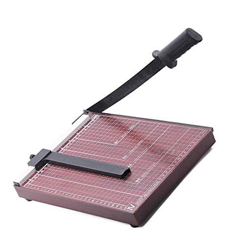 A4 Paper Cutter Guillotine Paper Cutter Paper Trimmer Paper Trimmer-Can Trim Files,Photos, Improve Cutting Precision,Wooden