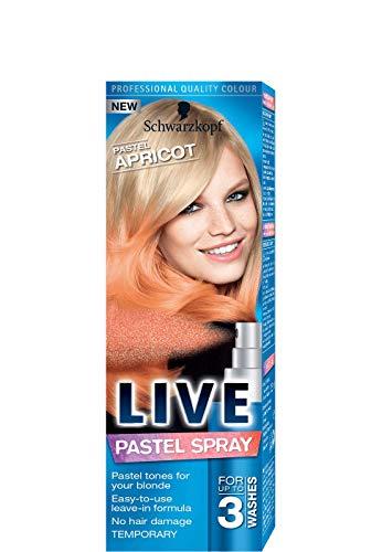 Schwarzkopf Live Pastel Spray - PASTEL APRICOT (1 x 125 ml)