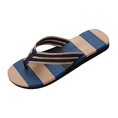 Dressin Men Summer Slipper Mixed Colors Male Breathable Indoor/Outdoor Beach Flip Flops Shoes Sandals Beige