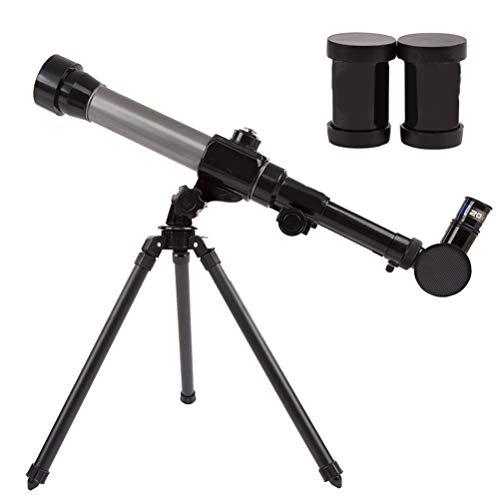 EisEyen - Telescopio astronómico Infantil 20X-40X Ajustable, monocular astronómico, Reflector portátil con trípode, para Principiantes