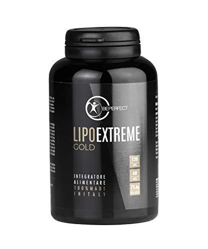 Be Perfect - Lipo Extreme Gold - Integratore Alimentare Termogenico Per Il Tuo Allenamento - Made in Italy - 120 Capsule