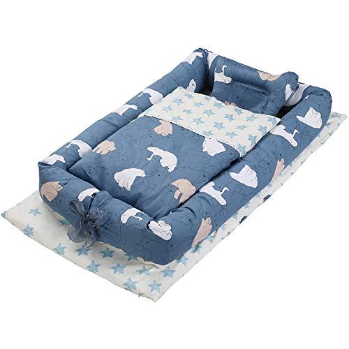 Lit bébé lit enfant 0-3 ans mini voyage portable anti-pression bébé sommeil lit bionique lit bébé 90 * 50 * 15cm-Northern Bear