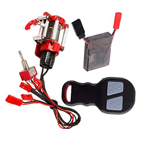 chiwanji Cabrestante RC, Modelo de Cabrestante Eléctrico Accesorio de Coche sobre Orugas con Mando a Distancia Y Receptor para Coche RC 1/10