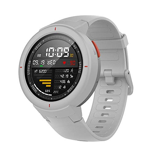 Amazfit Verge Smartwatch 1.3'' OLED Display, GPS Orologio Fitness, Phone-Free Music, RAM 512M, ROM 4GB, risoluzione 360×360 Bianco