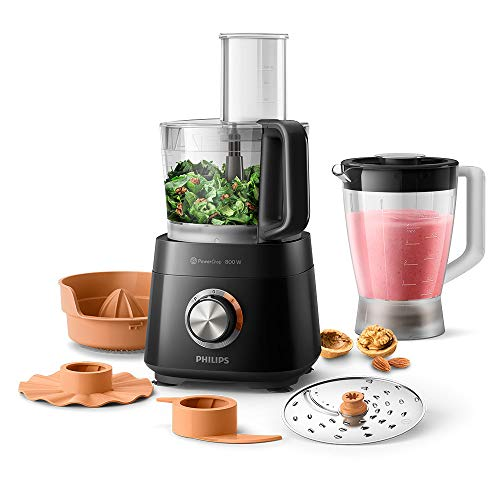 Philips Viva Compact Food Processor With 6 Accessories, 29 Functions, 800 W, 2.1 Litres, HR7510/11