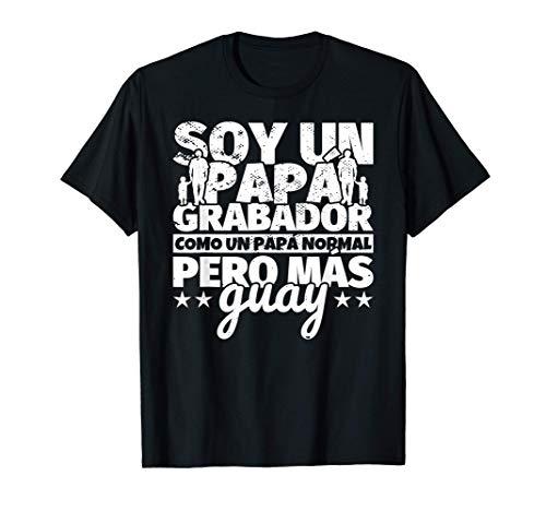 Hombre Grabador Regalo de padre para papá - Soy un papá Grabador co Camiseta