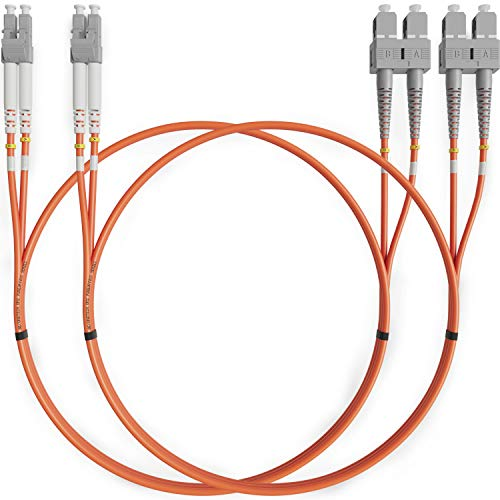 LC to SC Fiber Patch Cable Multimode Duplex - 2m (6.56ft) - 50/125um...