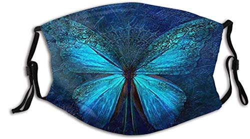 N A Butterfly Animal Pretty Colorful Art 3D Mouth Bandanass for Dust Protection Anti Face Bandanas Washable Earloop Bandanas