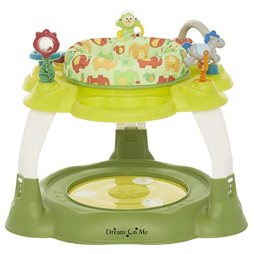Dream On Me Extravaganza 3in1 Activity Center | Bouncer | Play Table, Green