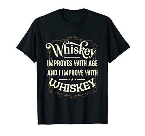 Whiskey Malt Alkohol Spruch Lustiges Trinkspruch T-Shirt