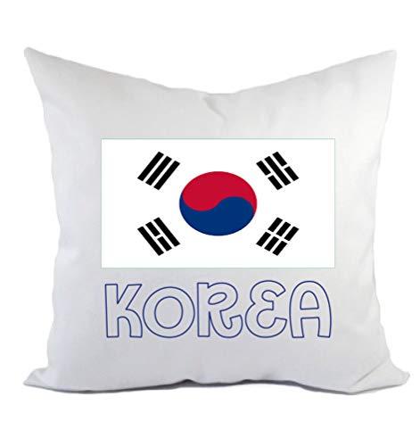 Typolitografie Ghisleri kussen Korea vlag kussensloop en vulling 40 x 40 cm van polyester