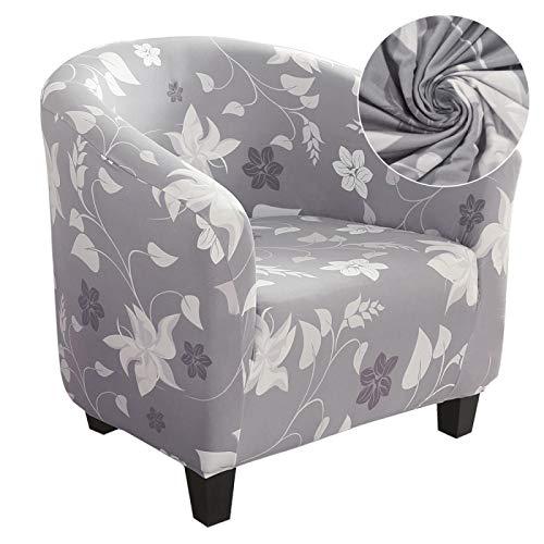 HGFHGD Cubierta elástica de café bañera silla cubierta sillón sofá cubierta hogar de fibra de poliéster muebles sofá cubierta de sofá de un solo asiento estilo-1