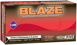 High Five Blaze Nitrile Exam Gloves, X-Large