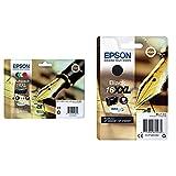 Epson C13T16364012 Cartucho de Tinta estándar, 4 Mutipack, Black/Yellow/Magenta/Cyan, Ya Disponible en Amazon Dash Replenishment, XL-High Capacity + 16XXL Cartucho de Tinta, Paquete estándar