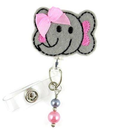 Adorable Elephant - Nurse Badge Reel - Retractable ID Badge Holder - Nurse Badge - Badge Clip - Badge Reels - Pediatric - RN - Name Badge Holder