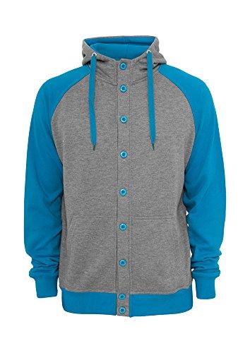 Urban Classics Light Fleece Button Sweat t Grey/Tu