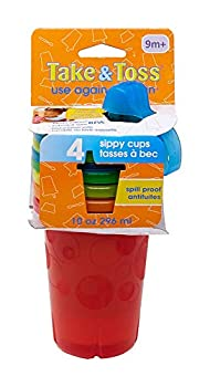 The First Years Take & Toss Spill-Proof Sippy Cups 10 Ounce 4 Count