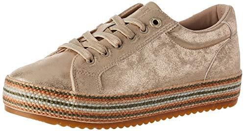 MTNG Attitude 69380, Zapatillas para Mujer, Dorado (Roko Platino C49648), 39 EU