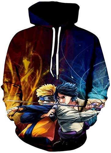 LIKEJJ marshmello Hoodie Herren Naruto 3D Druck Pullover Hoodie Sweatshirt mit Fronttasche L_Color 23